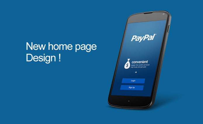 simple paypal app concept