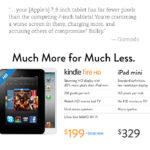 Amazon Openly Attack iPad Mini