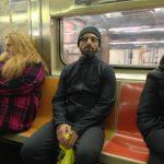 Sergey Brin Wears Google Glasses on NYC Subway