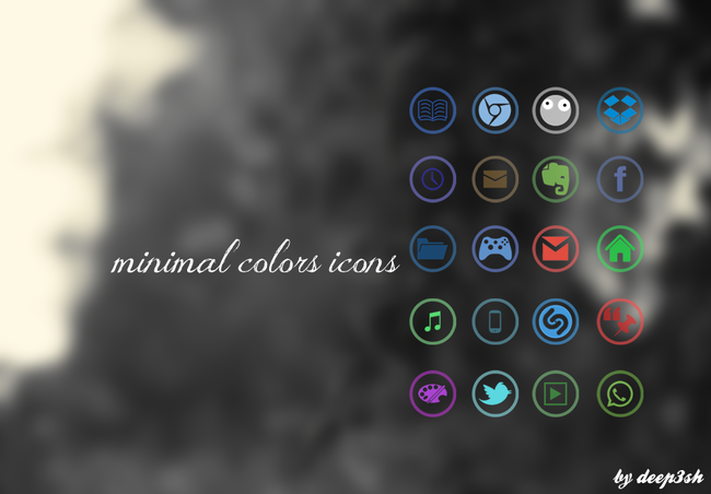 android icon pack minimal colors
